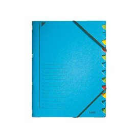 Leitz Sorteermap Leitz 3912 12-delig blauw