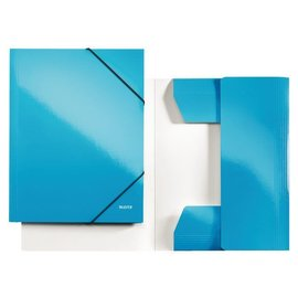 Leitz Chemise à élastique Leitz WOW A4 bleu