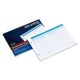 Atlanta Werkbriefje Atlanta A5425-014 A5 dagelijks 50vel