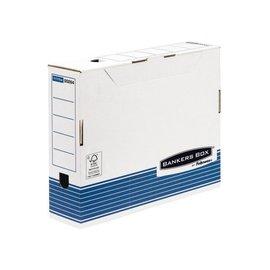 Fellowes Boite à archives Bankers Box standard 80mm bleu-blanc