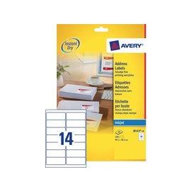 Avery Etiket Avery j8163-40 99.1x38.1mm wit 560stuks