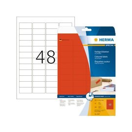 Herma Etiket Herma 4367 45.7x21.2mm rood 960stuks