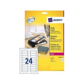 Avery Etiquette Avery L7665-25 72x21,2mm cartouche num 600 ps