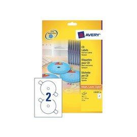 Avery Etiquette CD Avery L7676-25 maxi-couvrantes mat 50 pièces