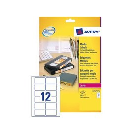 Avery Etiket Avery l7671-25 76.2x46.4mm video bovenzijde 300stuks