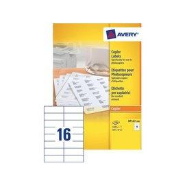 Avery Etiquette copieurs Avery DP167-100 105x37mm 1600 pièces