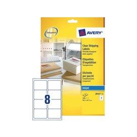 Avery Etiquette Avery J8565-25 99,1x67,7mm transparent 200 pcs