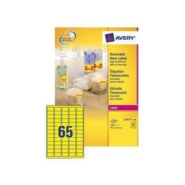Avery Etiquette Avery L7651Y-25 38,1x21,2mm jaune néon 1625 pièces