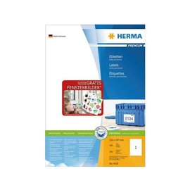 Herma Etiket Herma 4428 210x297mm A4 premium wit 100stuks