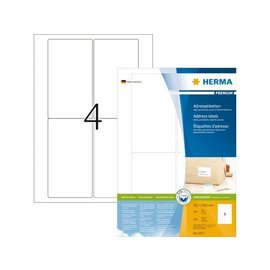 Herma Etiket Herma 4472 78.7x139.7mm premium wit 400stuks