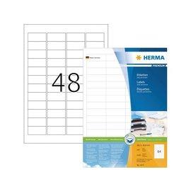 Herma Etiquette Herma Premium 4271 48.3x16.9mm blanc 6400 pièces