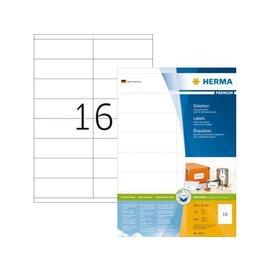 Herma Etiquette Herma Premium 4427 105x35mm blanc 1600 pièces