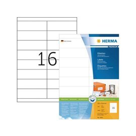 Herma Etiket Herma 4264 105x33.8mm premium wit 1600stuks