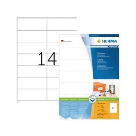 Herma Etiquette Herma Premium 4475 105x41mm blanc 1400 pièces