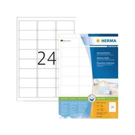 Herma Etiquette Herma Premium 4645 63.5x33.9mm blanc 2400 pièces