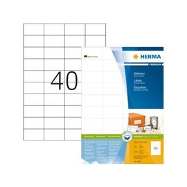 Herma Etiquette Herma Premium 4461 52,5x29,7mm blanc 4000 pièces