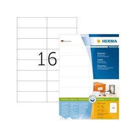 Herma Etiquette Herma Premium 4462 105x37mm blanc 1600 pièces