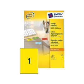 Zweckform Etiquette Avery Zweckform 3473 210x297mm A4 jaune 100 pièces