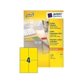 Zweckform Etiket Avery zweckform 3459 105x148mm A6 geel 400stuks