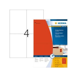 Herma Etiquette Herma 4397 105x148mm A6 rouge 400 pièces