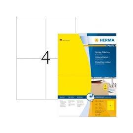 Herma Etiket Herma 4396 105x148mm a6 geel 400stuks