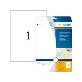 Herma Etiket Herma 4375 210x297mm A4 transparant 25stuks