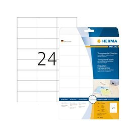 Herma Etiket Herma 4685 70x37mm transparant 600stuks