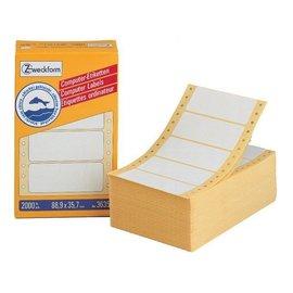 Zweckform Etiquette Avery Zw 3615 88,9x35,7mm 1 rangée blanc 4000 pcs