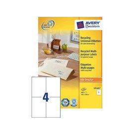 Zweckform Etiquette Avery LR3483 105x148mm A6 recyclé blanc 400 pcs