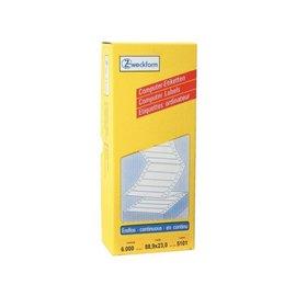 Zweckform Etiket Avery zweckform 5101 88.9x23mm 1-baans wit 6000stuks