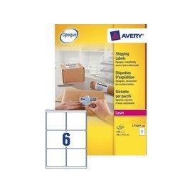 Avery Etiket Avery l7166-100 99.1x93.1mm dekkend wit 600stuks