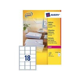 Avery Etiquette Avery L7161-100 63,5x46,6mm blanc 1800 pièces