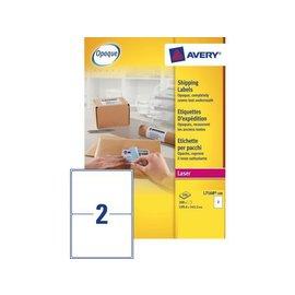 Avery Etiket Avery l7168-100 199.6x143.5mm dekkend wit 200stuks