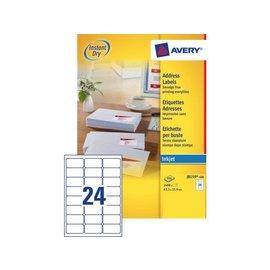 Avery Etiket Avery j8159-100 63.5x33.9mm wit 2400stuks