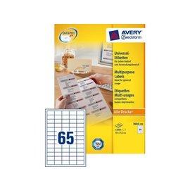 Zweckform Etiquette Avery Zweckform 3666 38x21.2mm blanc 13000 ps