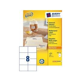 Zweckform Etiket Avery zweckform 3427 105x74mm wit 1600stuks