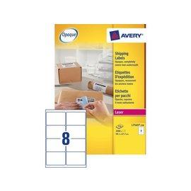 Avery Etiket Avery l7165-250 99.1x67.7mm wit 2000stuks
