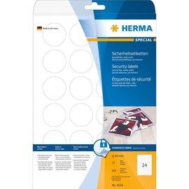 Herma Herma 4234 étiquettes de sécurité, en film spécial anti-fraude, A4, Ø 40 mm, ultra-adhérentes