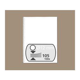 Fellowes Reliure métallique Feloowes 12mm 34 ann A4 blanc 100pcs