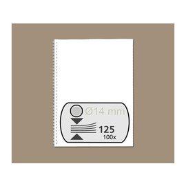 Fellowes Peigne métallique Fellowes 14mm 34 anneaux A4 argent 100pcs