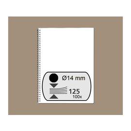 Fellowes Reliure métallique Fellowes 14mm 34 ann A4 noir 100pcs