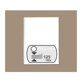 Fellowes Reliure métallique Fellowes 14mm 34 ann A4 blanc 100pcs
