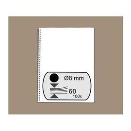 GBC Draadrug GBC 8mm 34-rings A4 zwart 100stuks