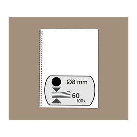 Fellowes Peigne métallique Fellowes 8mm 34 anneaux A4 noir 100pcs