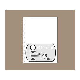 GBC Draadrug GBC 11mm 34-rings A4 wit 100stuks