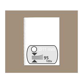 GBC Peigne métallique GBC 11mm 34 anneaux A4 blanc 100 pièces