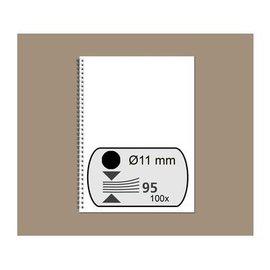 GBC Peigne métallique GBC 11mm 34 anneaux A4 noir 100 pièces