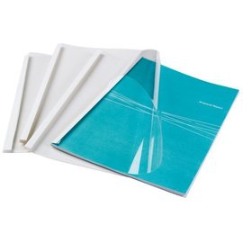 GBC Chemise thermique GBC Optimal A4 1.5mm transp/blanc 100pcs