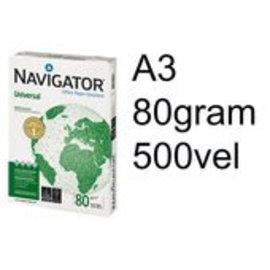 Navigator Kopieerpapier Navigator universal A3 80gr wit 500vel
