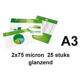 GBC Pochette de plastification GBC A3 2x75microns 25 pièces